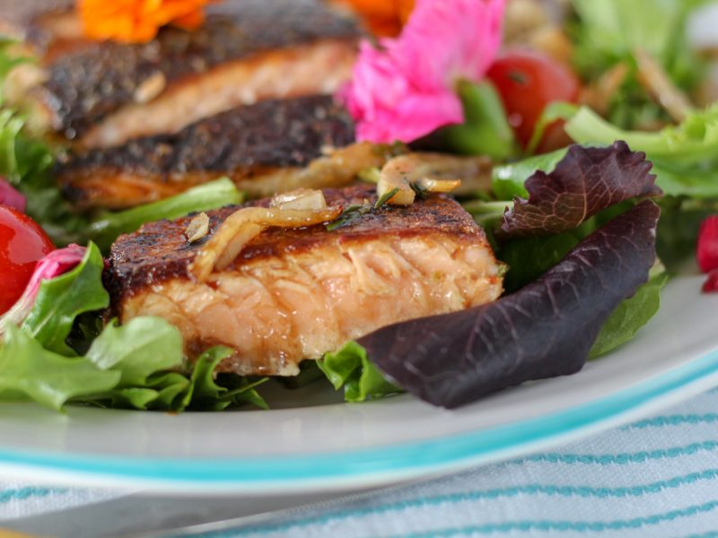 farm-fresh salmon salad